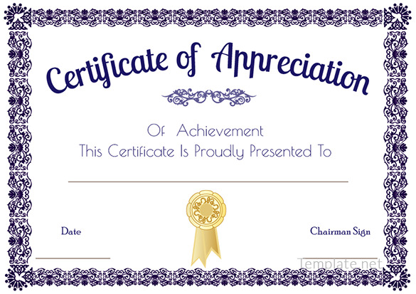 Certificate Of Appreciation Template Business Mentor