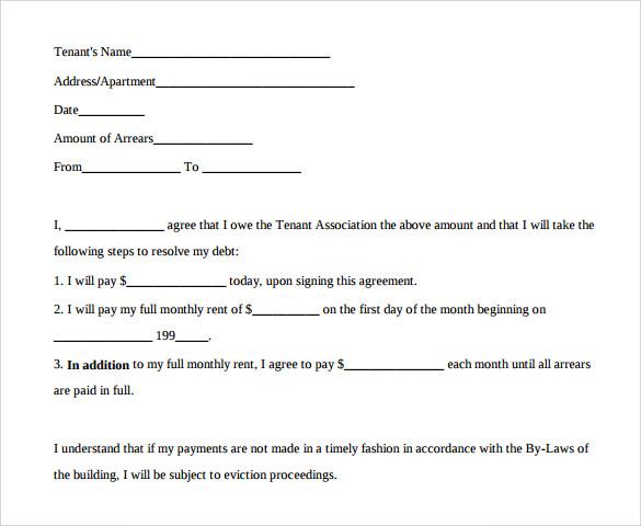Payment Agreement Template Business Mentor