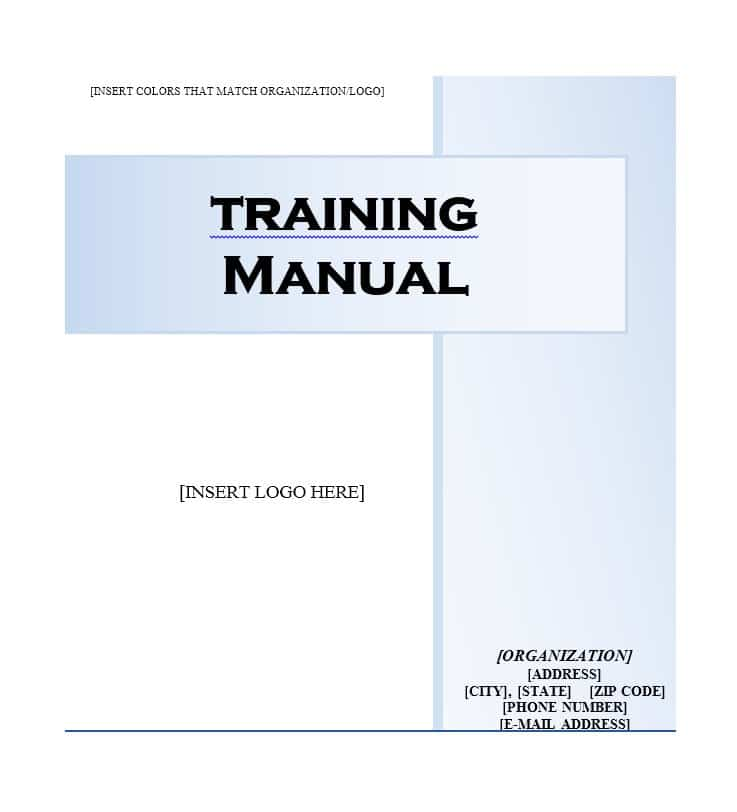 Training Manual Template Business Mentor