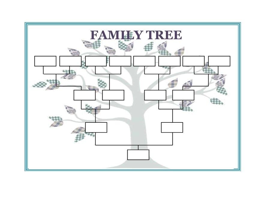 family tree template printable - Canasbergdorfbib