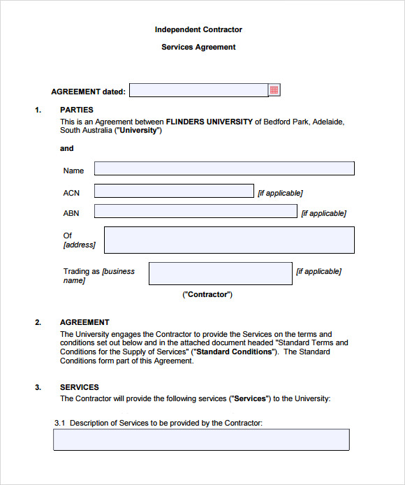 Free Independent Contractor Agreement Form Download Business Mentor