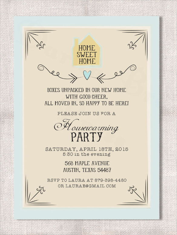 Housewarming Invitation Template Free Download Business Mentor