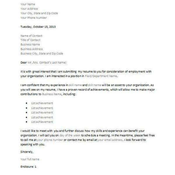 Letter Of Interest For Job Template Business Mentor