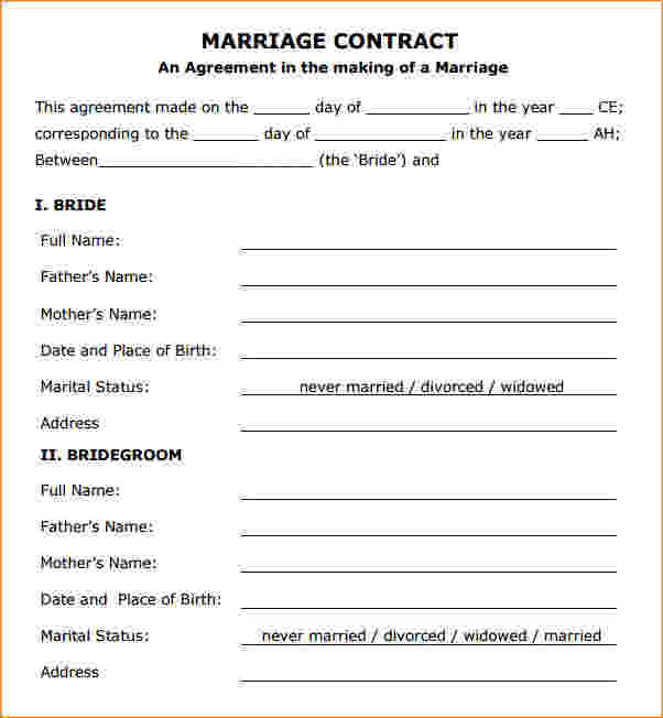 wedding contracts - Seckinayodhya