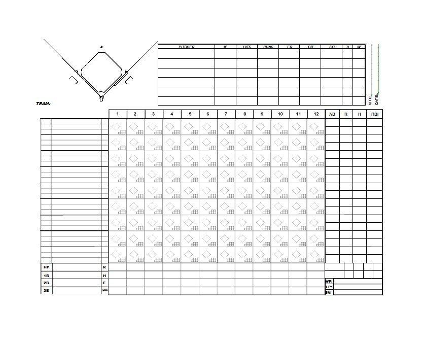 Baseball Score Sheet Business Mentor - printable baseball score sheet with pitch count