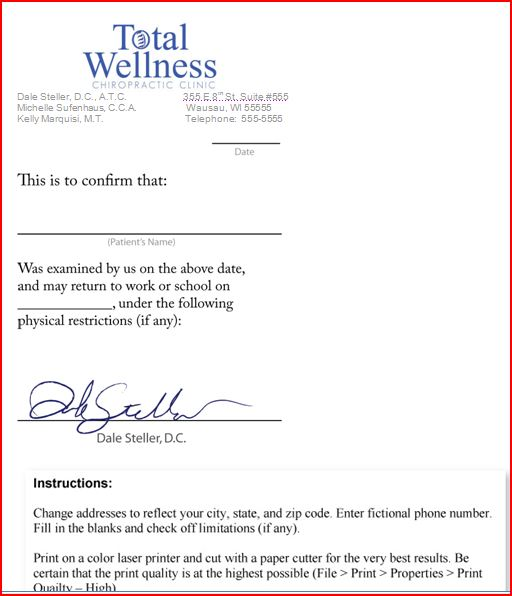 faking a doctors note