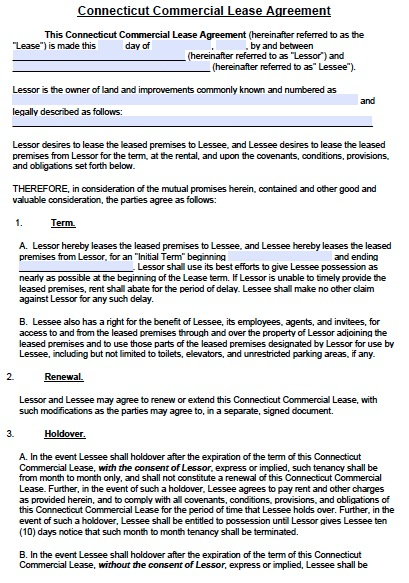 Free Commercial Lease Agreement Template Download Business Mentor