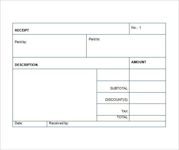 Receipt Template Business Mentor