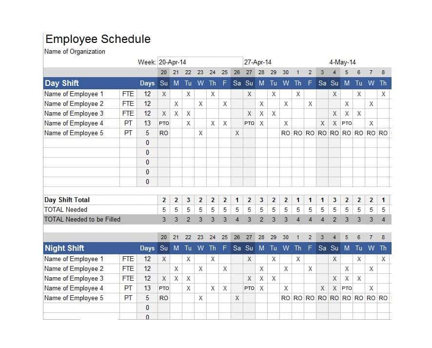 dupont schedule calendar