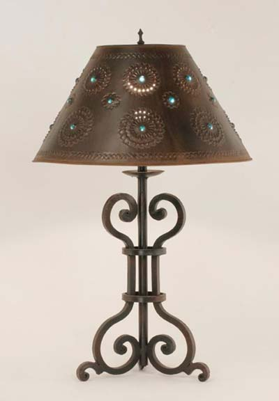 Mexican Style Kitchen Cabinets Iron Table Lamp Malaga: Western Passion