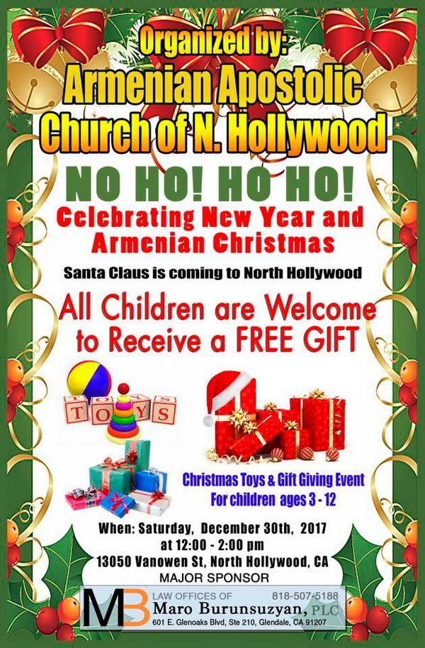 Western Prelacy Calendar The Armenian Prelacy Home North Hollywood Church New Year And Christmas Celebration