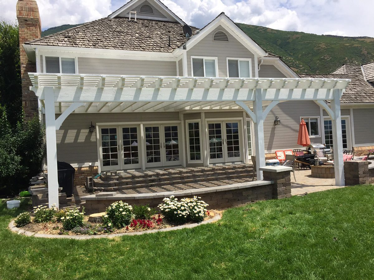 Simple Pergola Attached To House Quotwow Quot 12 39 X 20 39 White Timber Fast And Easy Patio Shade