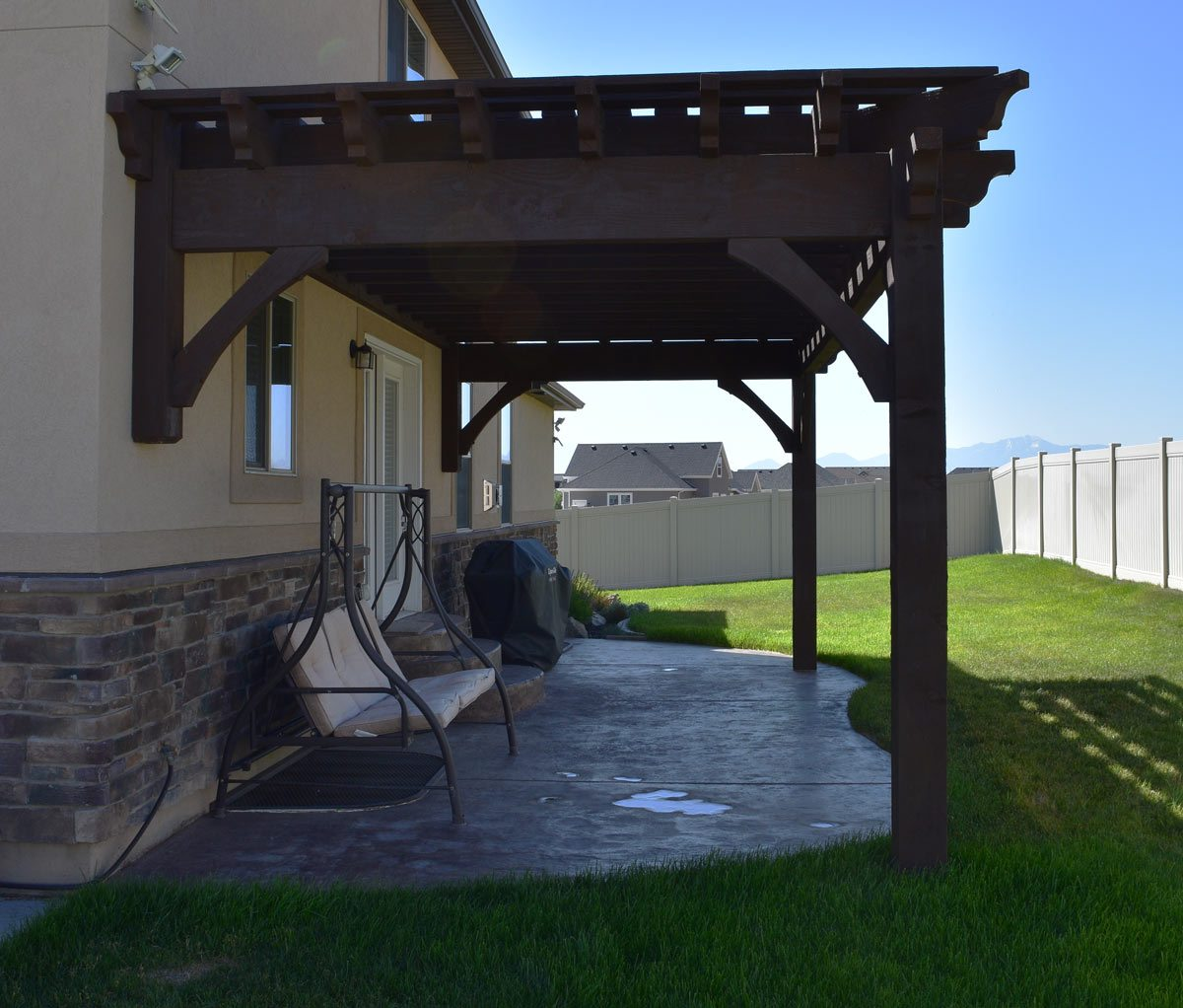Simple Pergola Attached To House Easy 12 39 X 24 39 11 Quot Diy Attached Pergola Kit W Fullwrap