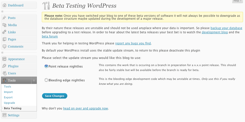 Making it easy to be a WordPress Tester
