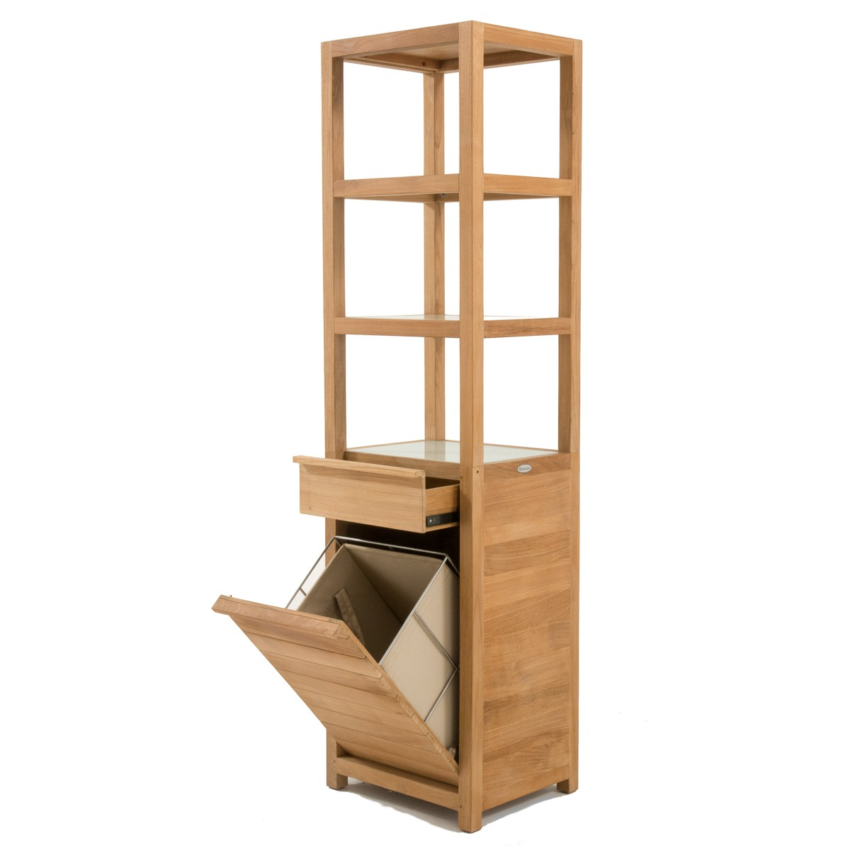 Laundry Basket With Shelves Pacifica Teak Laundry Hamper And Shelf Westminster Teak