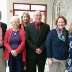 New Disciples: Paul Jackson, Susan Prior, Russell Gulick, Andrea Lopes, Adonia Garvin with Pastor Donna