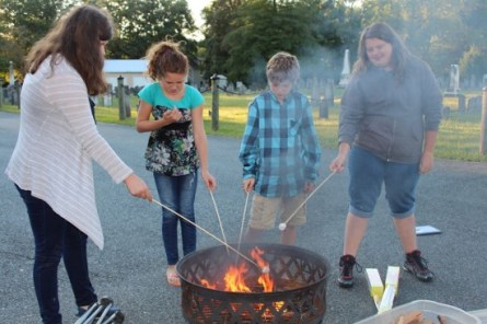 Youth Group-toasting marshmallows