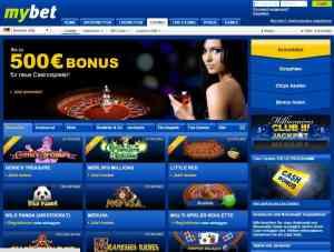 Der MyBet Casino Bonus beträgt aktuell 500€