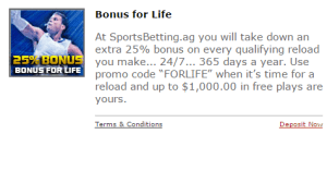 Lifetime Bonus Sportsbetting AG