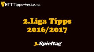 2.Liga Prognose 3.Spieltag 2016 2017