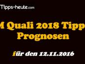 WM Quali Wetten Quoten 12.11.2016