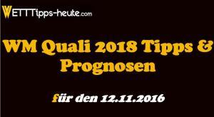 WM Quali Wetten Quoten 12.11.2016