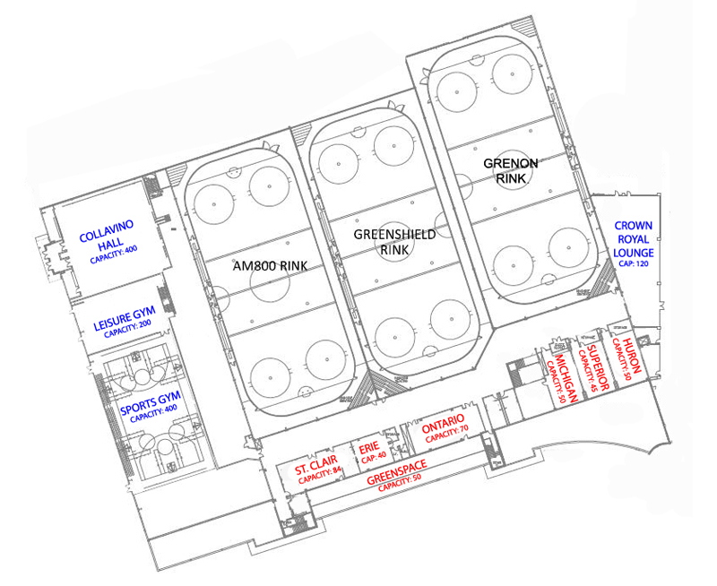 Community Event Map - The WFCU Centre - Windsor, Ontario - A Global