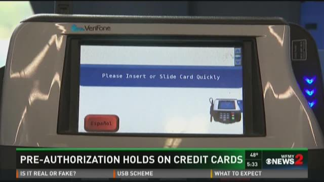 Pre-Authorization Holds On Debit Cards wfmynews2
