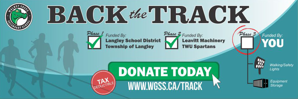 WGSS Track Donations - Walnut Grove Secondary