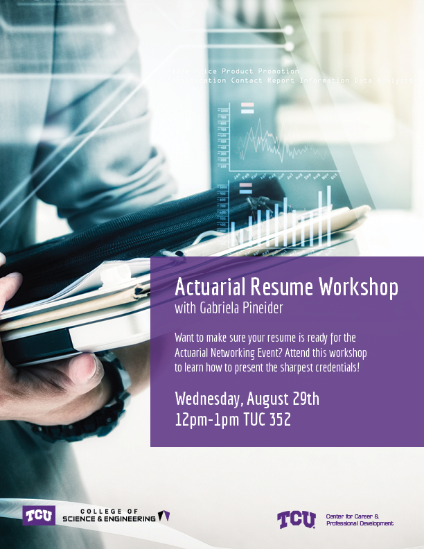 What2Do@TCU Actuarial Resume Workshop