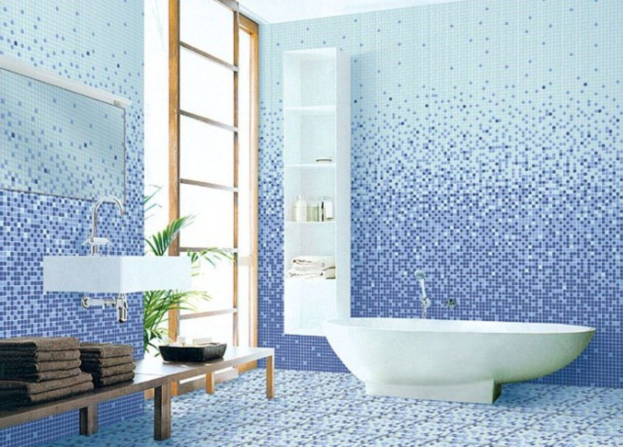 Cool White And Blue Ceramic Tiled Wall Tile Shower And Tub Ideas Modern Inside Blue Bathroom Shower Ideas Ideas House Generation