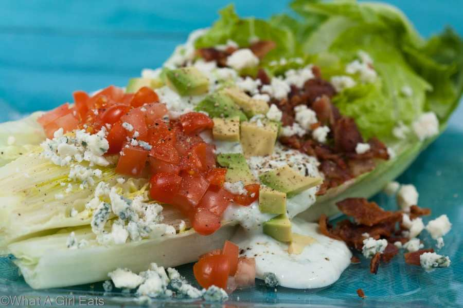 BLT Salad with Homemade Blue Cheese dressing.