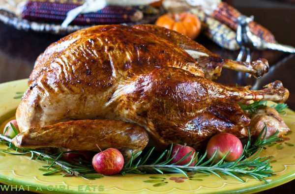Slow roasted turkey