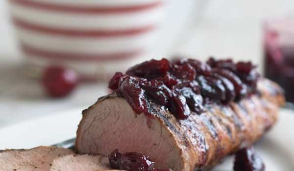 Cherry Chutney on Grilled Loin of Pork