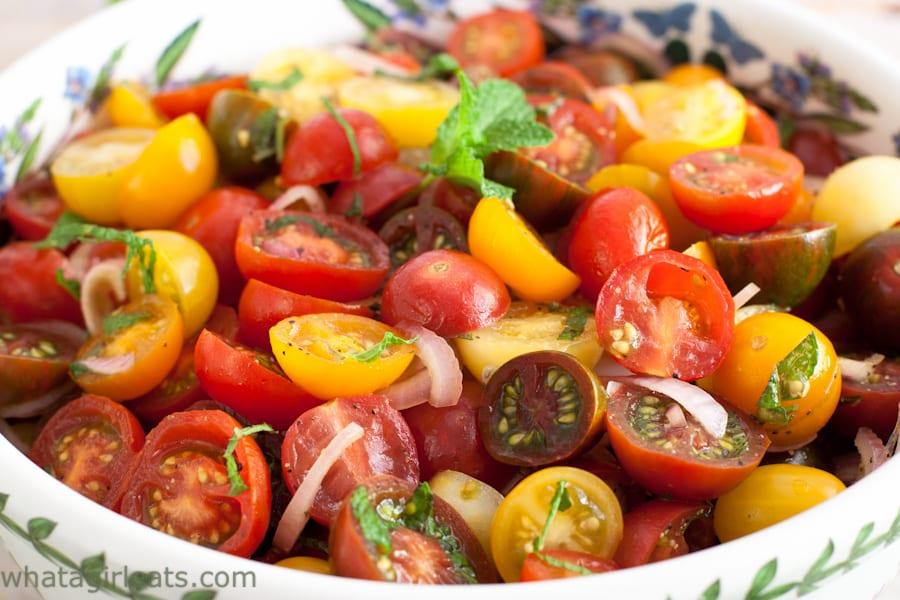 Tomato Balsamic Mint Salad {Whole30, Paleo, Vegan} - What ...