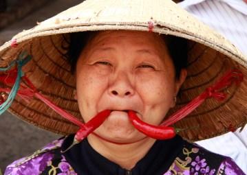 Funny Market Lady