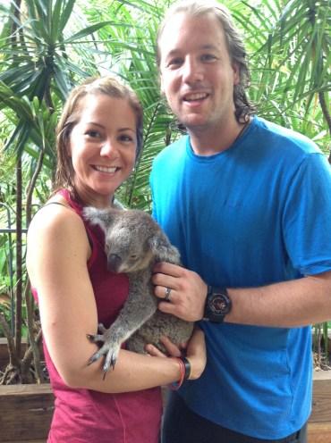 Kristin & Justin Butler with Koala