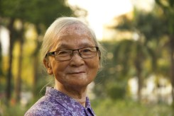Smiling Old Vietnamese Woman