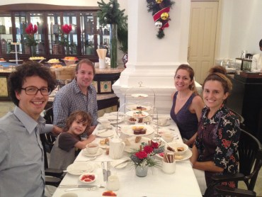 High tea at Raffles Hotel