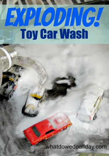 Toddler Car Wash Toy Exploding Toy Car Wash
