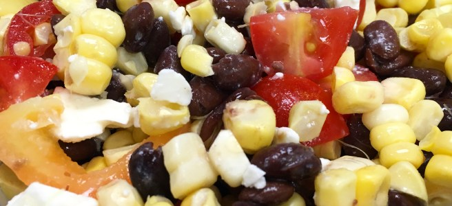 delivery corn black bean tomato salad
