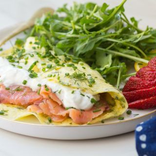 Lox, Dill and Goat Cheese Yogurt Omelette