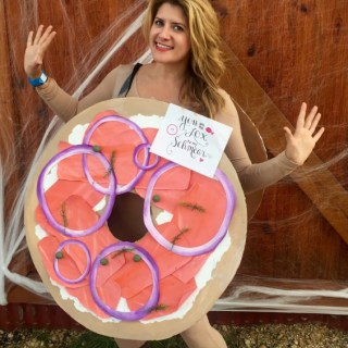 How to Make a Bagel and Lox Costume