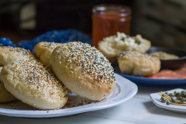 Lox and Schmear Stuffed Everything Bagels
