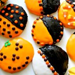 Halloween Black and Orange Cookies