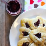 Heart Shaped White Chocolate Cherry Hamantaschen