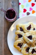 Heart Shaped Cherry & White Chocolate Hamantaschen