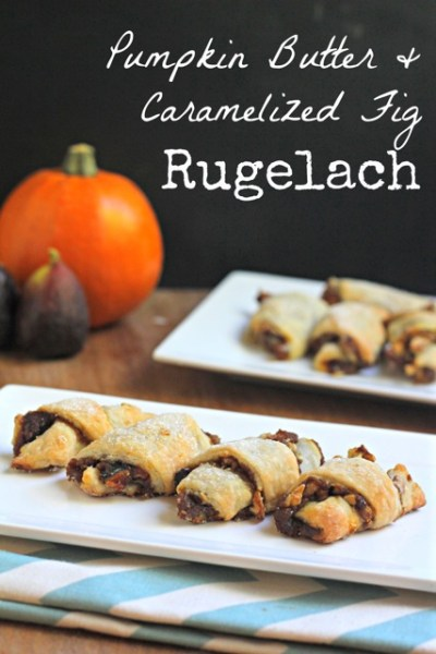 Pumpkin Butter and Caramelized Fig Rugelach