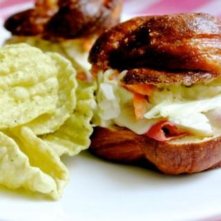 Reuben Sandwich on Pretzel Challah Rolls