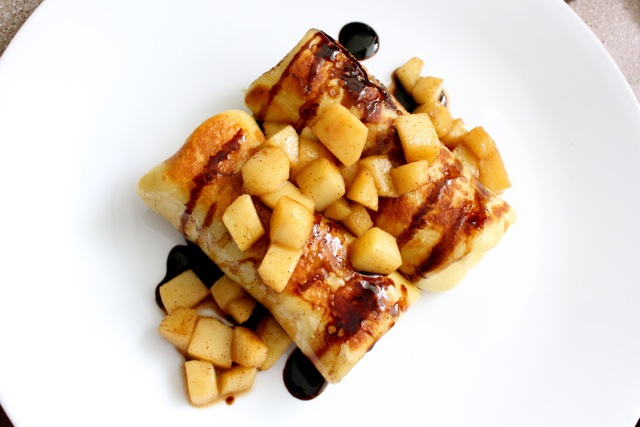 Brie and Apple Blintzes Crepes